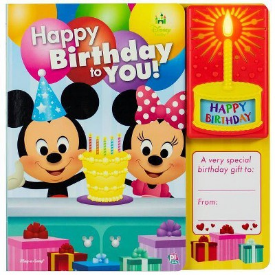 Disney Baby Mickey and Minnie Mouse - Happy Birthday to You - Sound Book (Board Book)