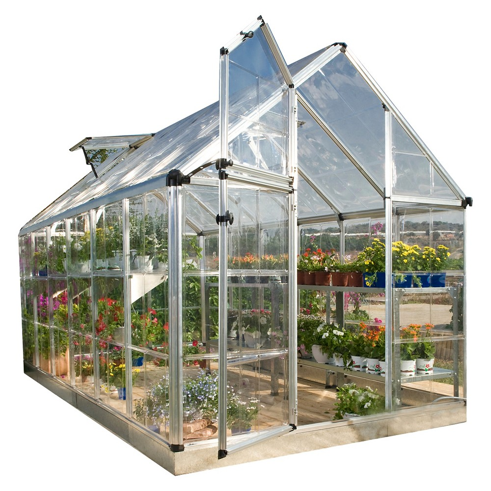 (6' x 16' x 7') Snap And Grow Series Hobby Greenhouse - Silver - Palram