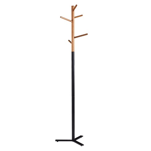 Steltz Hall Tree/Coat Rack Natural With Brown - Aiden Lane - image 1 of 5