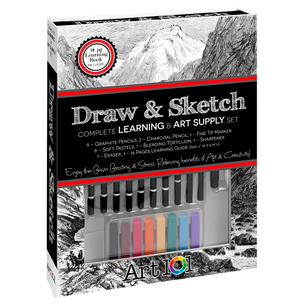 Large Draw & Sketch Book Box - Art 101