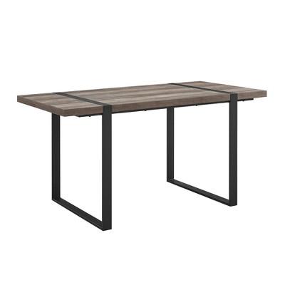 "60"" Urban Blend Metal and Wood Rectangle Dining Table - Saracina Home"