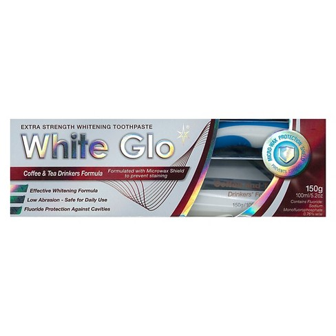 White Glo Coffee and Tea Drinkers Whitening Toothpaste - 5.2 oz - image 1 of 3