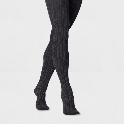 58bbd9a9537 Women s Cable Sweater Tights - A New Day™ Gray   Target