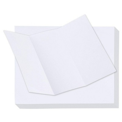 """100-Pack Trifold Brochure Paper, Pamphlet Flyer, Printer Friendly, 11"""" x 8.5"""""""