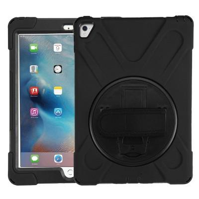 "MYBAT For Apple iPad Pro 9.7"" Black Rotatable Stand Hard TPU Hybrid Case Cover w/stand"