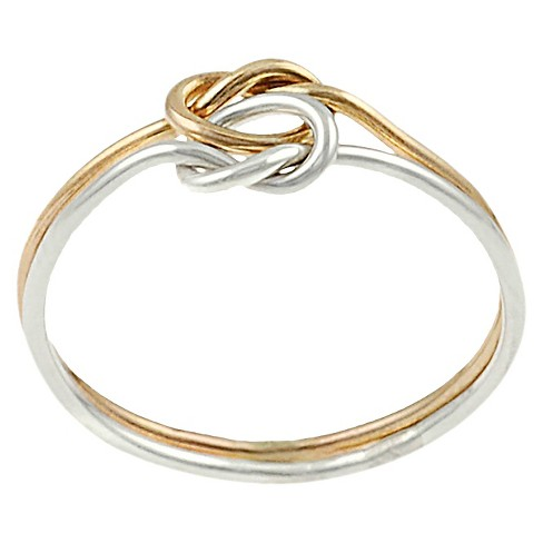 Women's Journee Collection Knotted Two-Piece Ring in Sterling Silver - image 1 of 3