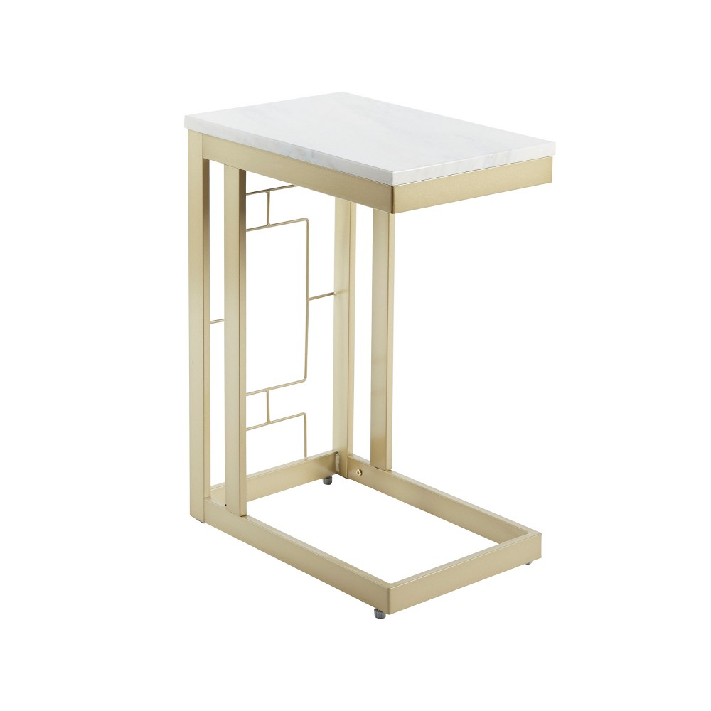 Double Square C Table with Square Accent Gold - Silverwood