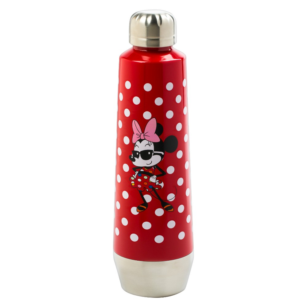 Mickey Mouse & Friends Minnie Mouse Stainless Steel Water Bottle 18oz - Red
