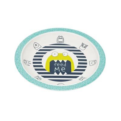 Lassig Little Monsters Bouncing Bob Plate - Blue