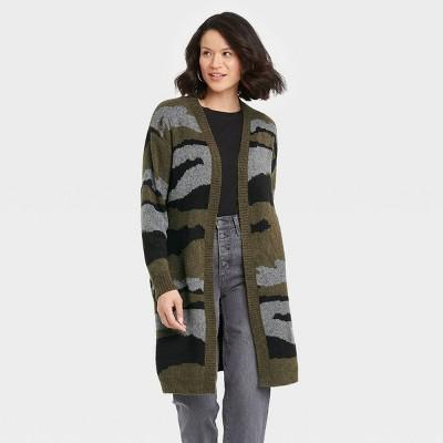 Women's Long Sleeve Cardigan - Knox Rose™ Leopard Print