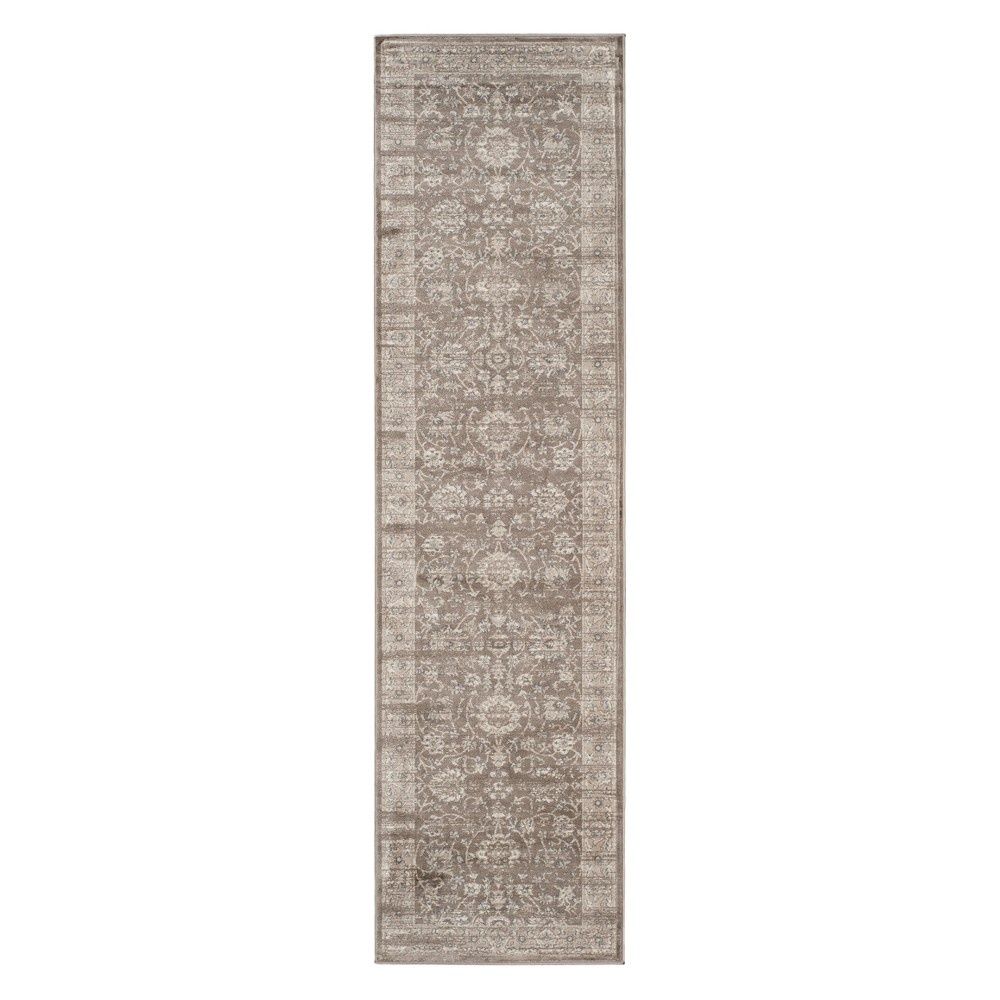 2'2X10' Floral Loomed Runner Brown/Ivory - Safavieh