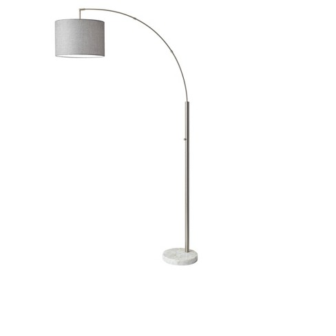 Bowery Arc Lamp Steel (Lamp Only) - Adesso - image 1 of 1