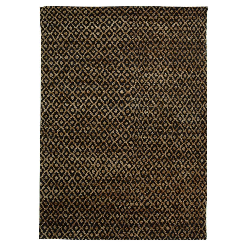Black/Gold Geometric Tufted Area Rug 4'X6' - Safavieh
