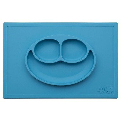 ezpz Happy Mat Dining Plate - Blue