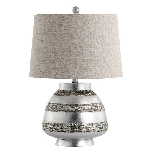 """24"""" Ziggy Resin LED Table Lamp Silver (Includes Energy Efficient Light Bulb) - JONATHAN Y - image 1 of 4"""