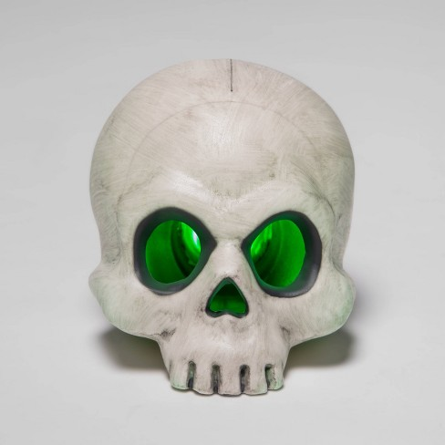 "4"" Color Changing Light Up Skull Halloween Decorative Prop - Hyde & EEK! Boutique™ - image 1 of 2"