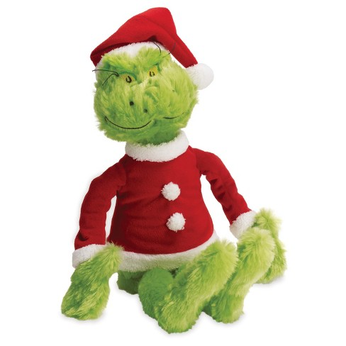 772457d2 Manhattan Toy Dr. Seuss The Grinch In Santa Suit Soft Toy : Target