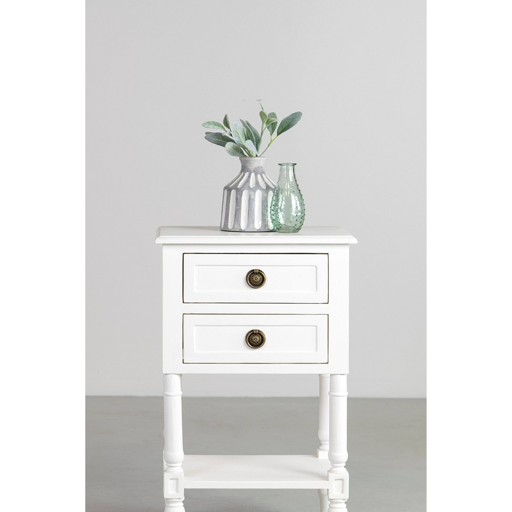 Nova Nightstand Bedside Table White - East At Main
