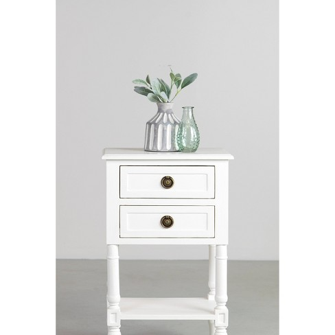 Nova Nightstand Bedside Table White - East At Main - image 1 of 1
