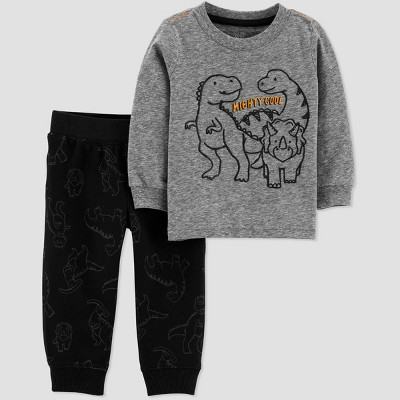 Baby Boys' Dino Sweatpants Set - Just One You® made by carter's Gray 9M