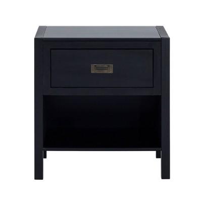 Single Drawer Classic Bedside Table Nightstand - Saracina Home