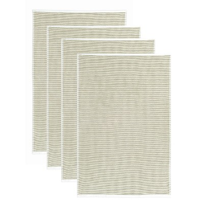 4pk Terry Honeycomb Kitchen Towel Khaki - MU Kitchen