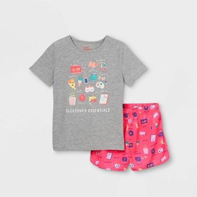 Girls' 2pc Junk Food Pajama Set - Cat & Jack™ Gray/Pink