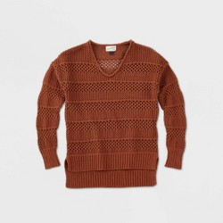 Women's Crewneck Mesh Pullover Sweater - Universal Thread™