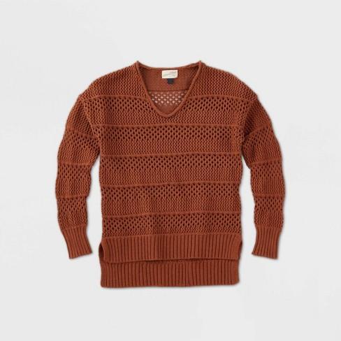 Women's Crewneck Mesh Pullover Sweater - Universal Thread™ - image 1 of 2