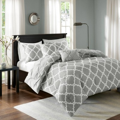 Gray Hayden Solid Reversible Comforter Set (King/California King)5pc