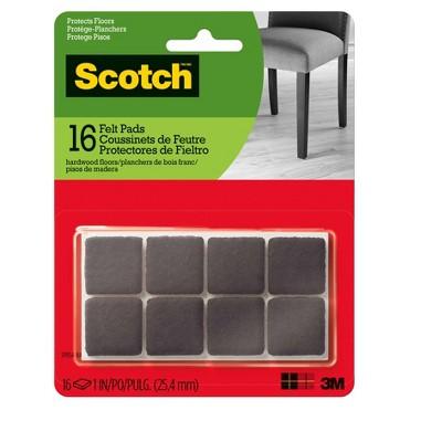 Scotch Felt Pads Brown Square 1