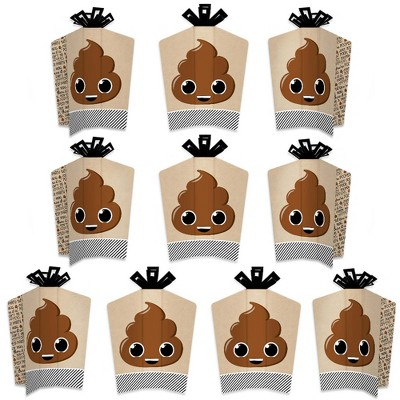 Big Dot of Happiness Party 'Til You're Pooped  - Table Decorations - Poop Emoji Party Fold and Flare Centerpieces - 10 Count