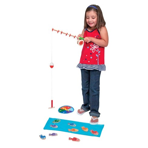 Melissa & Doug® Catch & ct Wooden Fishing Game With 2 Magnetic Rods - image 1 of 3