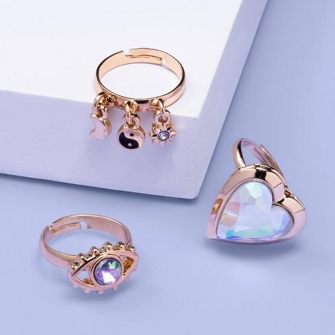 Girls' 3pk Locket Ring Set - More Than Magic™ - image 1 of 2