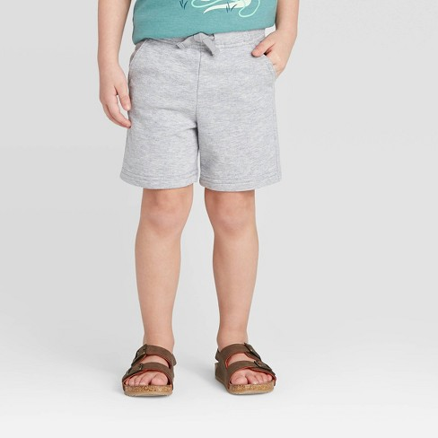 Toddler Boys' Knit Pull-On Shorts - Cat & Jack™ Gray - image 1 of 3