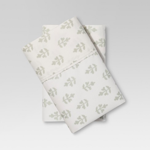 Organic Cotton Printed Pillowcase Set 300 Thread Count - Threshold™ - image 1 of 2