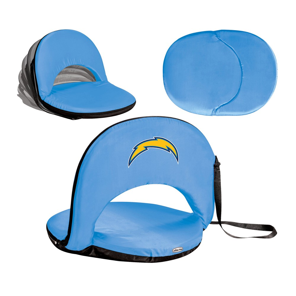 NFL Los Angeles Chargers Picnic Time Oniva Seat Portable Recliner Chair - Blue