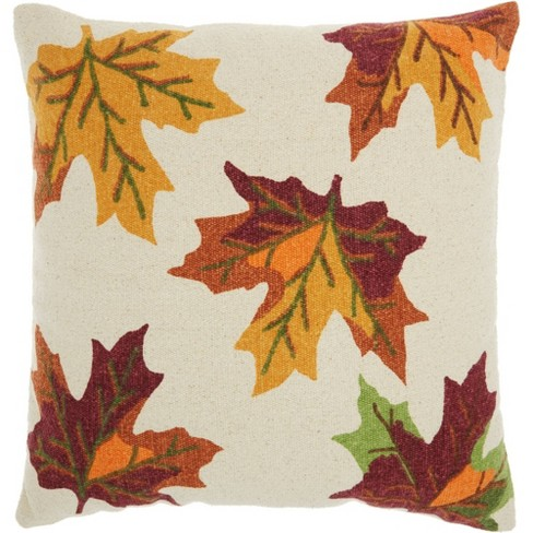 Home For The Holiday Leaves Throw Pillow - Nourison - image 1 of 4