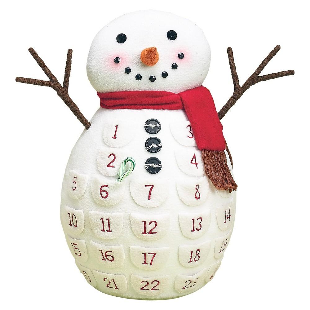 18 Snowman Advent Calendar, Multi-Colored