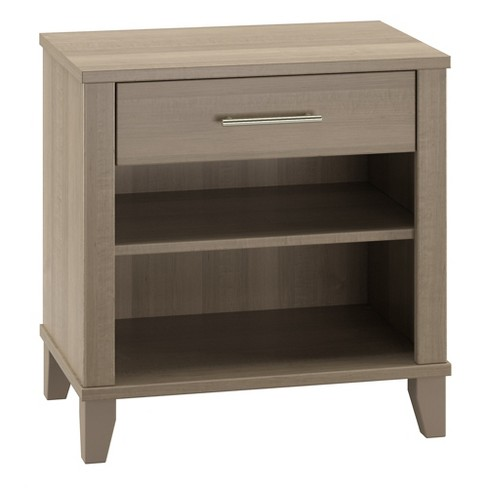 Bush Furniture Somerset Nightstand In Ash Gray - image 1 of 6