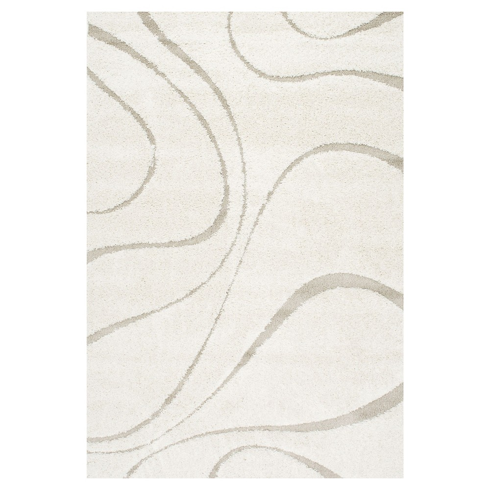 Off White Solid Loomed Area Rug - (6'7x9') - nuLOOM, Beige