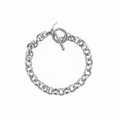 Sanctuary Project Round Chain Link Bracelet Silver