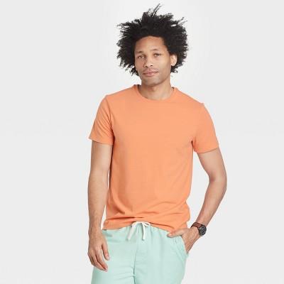 Men's Regular Fit Lyndale Crew Neck Short Sleeve Crew Neck T-Shirt - Goodfellow & Co™ Orange L