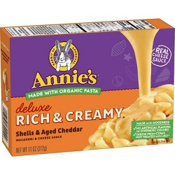 Annie's Homegrown Creamy Deluxe Macaroni Dinner Shells & Real Aged Cheddar Sauce 11oz
