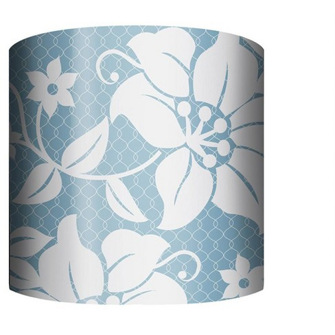 "PTM Images 10-0001 Floral 10"" Tall x 12"" Wide Cylinder Net Fabric Lamp Shade - image 1 of 1"