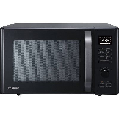 Toshiba 1.0 cu ft Multi-function 6 in 1 Microwave Black Stainless Steel