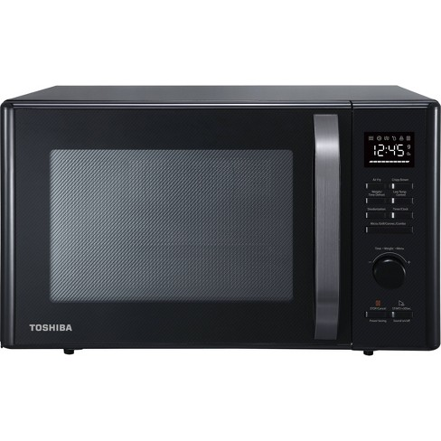 Toshiba 1.0 cu ft Multi-function 6 in 1 Microwave Black Stainless Steel - image 1 of 1