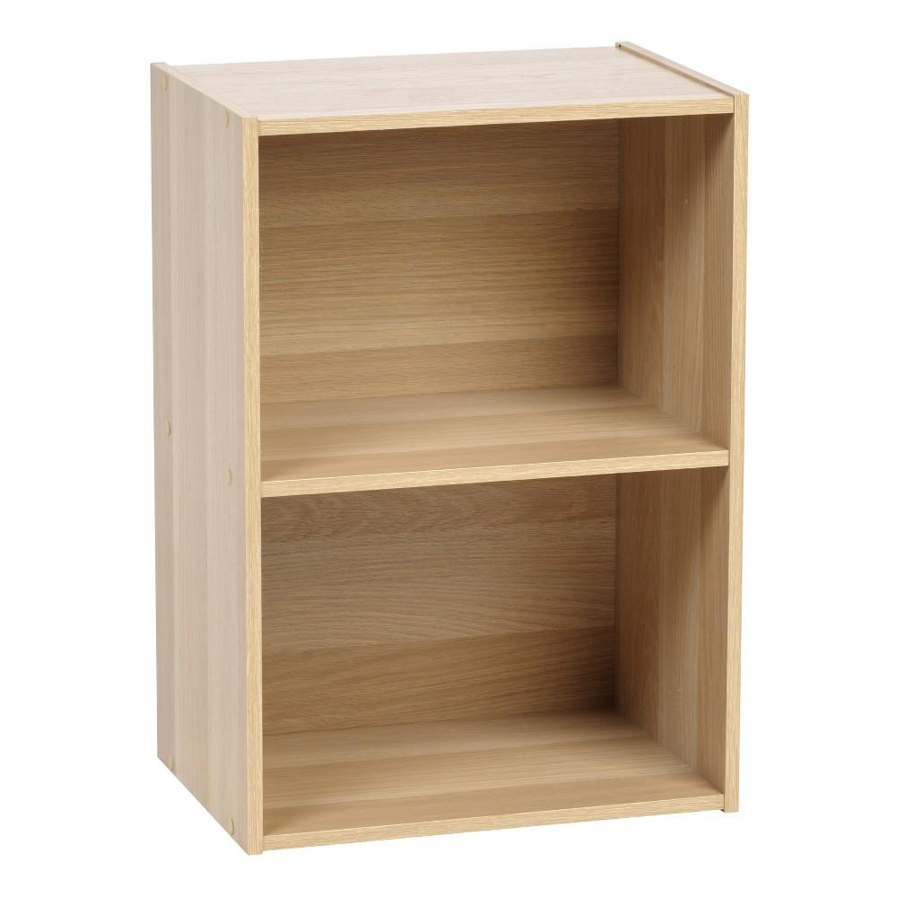 Image of IRIS 2-Tier Storage Shelf, Light Brown