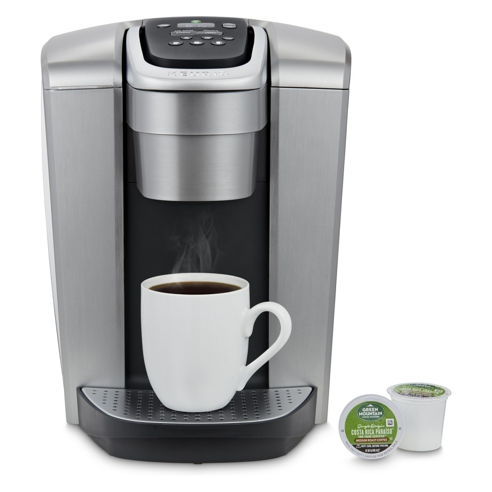 Keurig K-Elite Single-Serve K-Cup Pod Coffee Maker with Iced Coffee Setting – Silver, Brushed Silver 53205904
