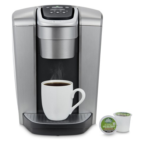 Keurig K Elite Single Serve K Cup Pod Coffee Maker With Iced Coffee Setting Silver Target